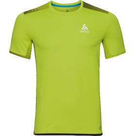 Odlo Omnius Print Koszulka do biegania z krótkim rękawem Mężczyźni zielony